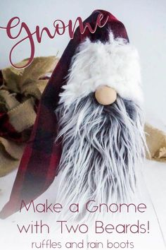 This interchangeable beard gnome is SO AWESOME! It's the best Christmas gnome tutorial I've seen. Click through to see how to make this easy holiday gnome in minutes. Christmas Gnome, Diy Christmas Gifts, Christmas Projects, Simple Christmas, Christmas Holidays, Christmas Decorations, Christmas Ideas, Christmas Displays, Christmas Tables