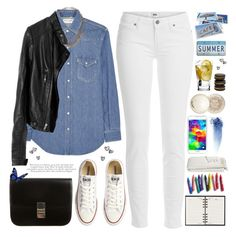 """""""2026. It's Just a Bad Day Not a Bad Life"""" by chocolatepumma ❤ liked on Polyvore featuring Paige Denim, Yves Saint Laurent, Topshop, Retrò, Converse, CÉLINE, Bob's Your Uncle, Samsung, Crate and Barrel and Paul & Joe"""