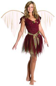 Adult Burgundy Foliage Fairy Costume - Fairy Costumes