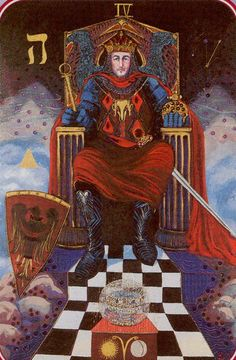 The Emperor - Spiral Tarot  --  If you love Tarot, visit me at www.WhiteRabbitTarot.com