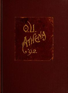 Athena Yearbook, 1892. Click through to see entire yearbook. :: Ohio University Archives