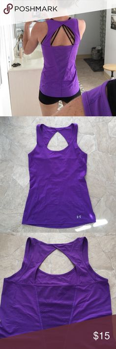 Women's Under Armour workout tank top. Size Small Under Armour workout tank in purple. Size small. No tags. Like new. Under Armour Tops Tank Tops
