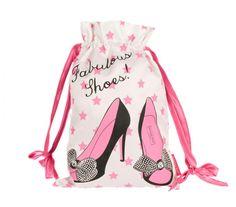 Luxurious satin shoe bag as fabulous as you are!