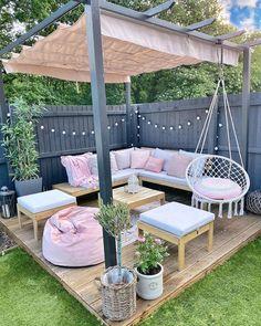 Backyard Patio Designs, Backyard Landscaping, Patio Ideas, Garden Decking Ideas, Cosy Garden Ideas, Small Backyard Patio, Backyard Pools, Backyard Ideas, Outdoor Living