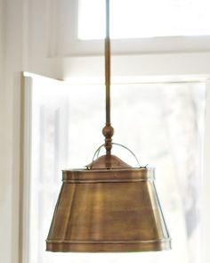 Antique Br Mercantile Pendant Light