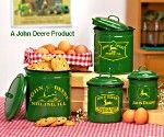 deere kitchen decor deere 4 pc canister