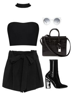 """Untitled #6532"" by heynathalie ❤ liked on Polyvore featuring L'Agence and Yves Saint Laurent"
