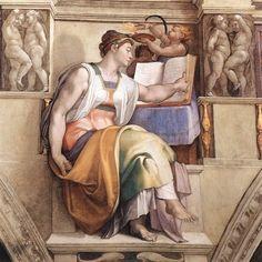 Michelangelo Buonarroti 1508 - 1510 circa Affresco 360 cm × 380 cm  Cappella Sistina, Musei Vaticani, Città del Vaticano (Roma) (PARTICOLARE PUTTO DEL FUOCO)
