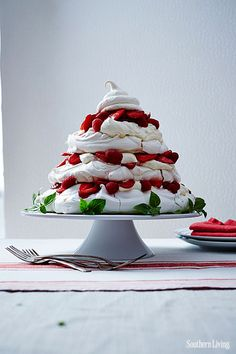 Damn, y'all! Y'all….  Red Berry Pavlova Tower  ~ Tumblr