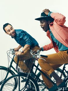 Carlos Campos and Theophilus London  Photographed by Norman Jean Roy, Vogue, November 2011