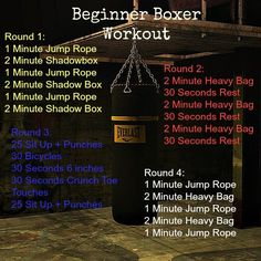 boxing workout routine Beginner Boxer Workout - Healty fitness home cleaning Boxing Workout With Bag, Boxing Workout Routine, Boxing Training Workout, Punching Bag Workout, Heavy Bag Workout, Kickboxing Workout, Beginner Boxing Workout, Boxer Training, Muay Thai Training Workouts