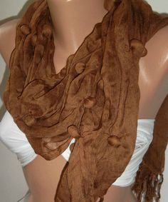 Handmade  Brown  Cotton Shawl by womann on Etsy, $14.90