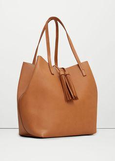 Tassel shopper bag - Bags for Women | MANGO USA