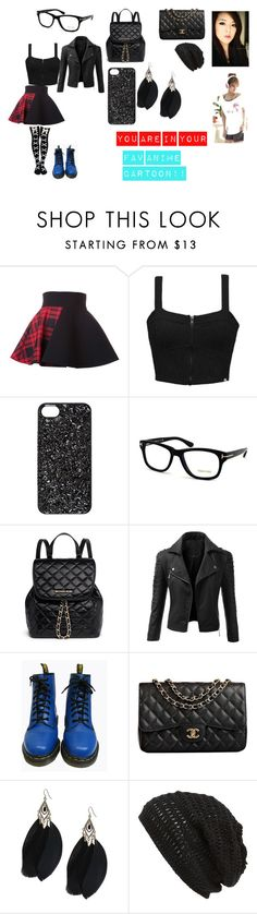 """""""You Are TRAPED In Your Fav Anime Cartoon"""" by rainbowlove2005 ❤ liked on Polyvore featuring FAUSTO PUGLISI, Element, Marc by Marc Jacobs, Tom Ford, MICHAEL Michael Kors, Doublju, Dr. Martens, Chanel and King & Fifth Supply Co."""