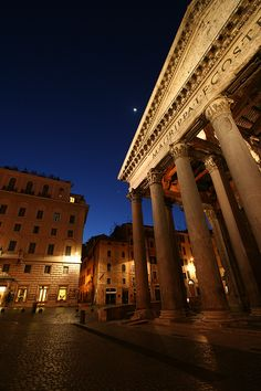 Pantheon, Rome, Italy. We ate pizza on this square on the evening of Epiphany. Children and families were everywhere! So cool!