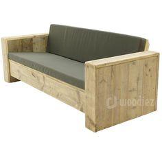 Steigerhouten meubels op maat gemaakt kopen   Woodiez Furniture Box, Furniture Village, Diy Garden Furniture, Diy Outdoor Furniture, Diy Pallet Furniture, Outdoor Sofa, Sofa Bed For Small Spaces, Wooden Couch, Pallet Lounge