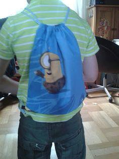 Mama kreatywnie: Wyprawka szkolna - worek diy handmade School bag sewing tutorial for kids