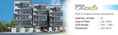 Mana Group, the Reputed Builders in Bangalore has planned to provide the new residential project Mana Candela Apartments in Sarjapur Road to the home buyers which give assured returns in future.