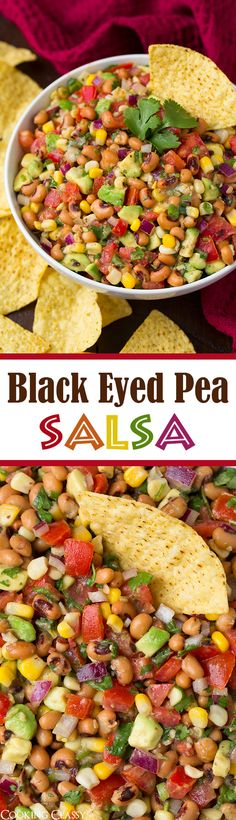 Black Eyed Pea Salsa - this stuff is always a hit at parties! Delicious flavors and easy to make!