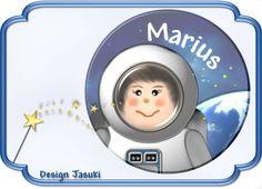 Button mutiger Astronaut von Jasuki auf DaWanda.com