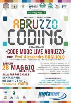 Vasto Code Mooc Live Abruzzo con il Prof. Alessandro Bogliolo