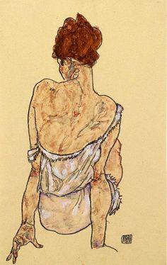 Sitzende Frau, 1917  Egon Schiele