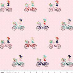 Tasha Noel - Vintage Market - Bike Ride in Pink