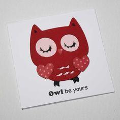 Valentine cards   Owl Kids Valentines  Owl be by JillyBearDesigns, $6.00
