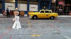 Checker wedding limo