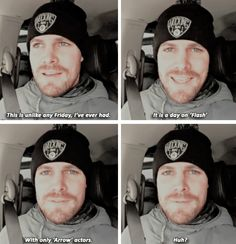 It's a freaky Friday. - Stephen Amell