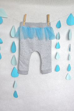 Spodnie dresowe z tiulową baskinką r.74-80 w Monika Magdalena na DaWanda.com