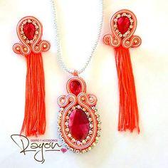 Soutache Jewelry, Beading Tutorials, Diy Earrings, Beaded Flowers, Shibori, Tassel Necklace, Jewerly, Embroidery, Beads