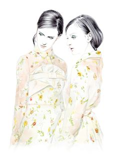 Illustration.Files: Rochas S/S 2015 Fashion Illustration by Lidia Luna
