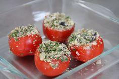 Uit Plenty van Ottolenghi, tomaten gevuld met kruiden - SimKookt