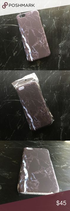 Black Marble iPhone 6/6S Hard Case This hard, plastic protective case features a black marble print with white accents and a soft, luxurious, rubberized matte finish. The case wraps around the sides of the phone for easy access to the charger port and headphone jack. This case will protect your phone from accidental drops -- don't worry, we all do it.  📸 Item snapshot: 〰New in Packaging✨ 〰Fits iPhone 6/6S📱✨ 〰Hard Case✨ 〰Matte finish, soft, rubberized texture✨ 〰Boutique item, no brand✨…