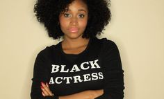 """A: My name is Andrea Lewis and I'm from Toronto, Canada. I'm an actress, singer and a writer. Tell us about your new web series """"Black Actress"""". A: """"Black Actress"""" is a scripted… Andrea Lewis, Black Girls, Black Women, Afro, Curly Hair Styles, Natural Hair Styles, Black Actresses, Pelo Natural, Super Natural"""