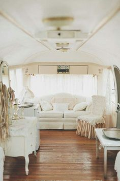 When I get my little camper, my color theme will be creams and whites, crystals, a little further and some lace!