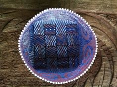 Beaded+Basket+in+Peyote+Stitch++Blue+and+Lavender+by+BeadHellion,+$145.00