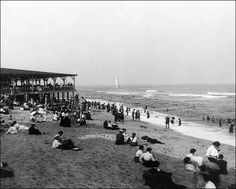 Buy the Ocean Grove Beach Pavilion New Jersey 1904 Photo Print for sale at The McMahan Photo Art Gallery and Archive. Ocean Grove Beach, Photo Art Gallery, Beach Images, New Jersey, Pavilion, Postcards, Dolores Park, History, Travel