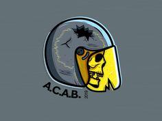 acab designed by Andrey. the global community for designers and creative professionals. Naruko Uzumaki, Sasunaru, Cosy Winter, Seven Deadly Sins, Dope Art, Body Mods, White Man, New Art, Stencils