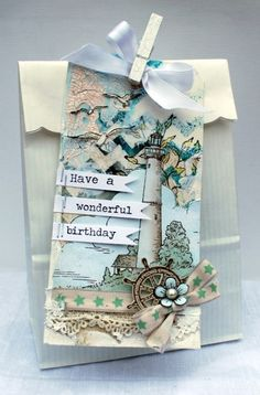 Birthday paper bag with tag