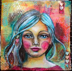 """Dana's Inspirations - Blog Hop with a Difference / Get to Know Me; What Am I Working On -I love to borrow from techniques I've learned in every other medium and see how it can be applied to this broad term """"Mixed Media"""". I love textures and bold colors like you can see in this more recent pieces. ♥♥"""
