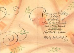 Holly Monroe Calligraphy Birthday Card DaySpring The Lord Bless Thee Numbers 6 Happy Birthday Wishes For Her, Happy Birthday Beautiful, Happy Birthday Messages, Very Happy Birthday, Happy Birthday Quotes, Birthday Love, Happy Birthday Greetings, Art Birthday, Birthday Prayer