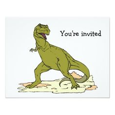 Tyrannosaurus Rex T Birthday Invitations Horse Parties Dinosaur Party