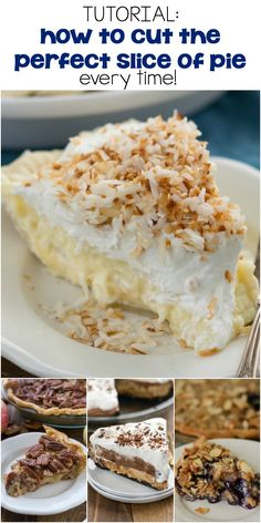 These tips on how to cut the perfect slice of pie will make getting those perfect slices easy! Use these methods for all types of cream or fruit pies and your pie slices will be perfect every time.