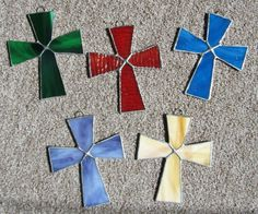 Christian Cross Stained Glass Sun Catchers/ Light Catchers ~ Religious Art ~ Inspirational Sun Catchers ~ Religious Gift