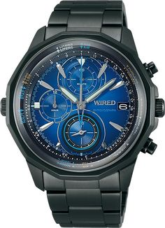 WIRED watches THE BULE - SKY for daily use bar water resistant) men's quartz by Wired -- Awesome products selected by Anna Churchill World Watch, Casio Watch, Chronograph, Omega Watch, Quartz, Watches, Mens Fashion, Stuff To Buy, Accessories