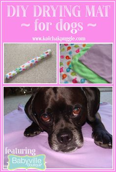 DIY Drying Mat for Dogs