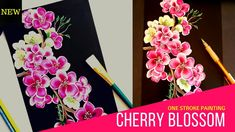 How to paint easy Cherry Blossom | one stroke painting cherry blossom...