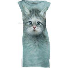 The Mountain Blue Eyed Kitten Small Mint Dress Womens T Shirt Dress, Cotton Shirt Dress, Mini Shirt Dress, Short Green Dress, Dress Long, Cat Dresses, Blue Dresses, Short Dresses, Mint Dress